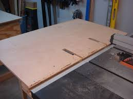 ridgid table saw table. woodworking table saw jigs | my ridgid r4512 outfeed - talk woodworkers