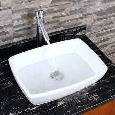 sink faucet combo unique rectangle shape white porcelain bathroom vessel sink with faucet combo kitchen sink sink faucet combo waterfall vessel