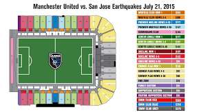 Seating Map San Jose Earthquakes Vs Manchester United