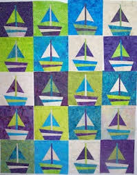 232 best BUGGY BARN´s QUILT images on Pinterest | Barn quilts ... & Sailboat Quilt Pattern from Buggy Barn. (I think the site indicated it  still needed to be finished/bound? Adamdwight.com