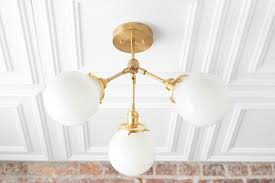 Flush Ceiling Lights Living Room Unique Semi Flush Globe Light Ceiling Hanging Lamp Dining Room Etsy