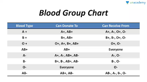 Different Blood Types Chart Blood Group Chart In Hindi