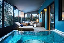 dream hotel presidential suite terrace hot tub patio