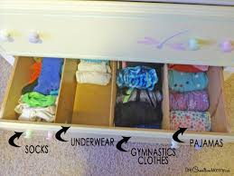 Organizing Drawers Impressive Organizing Kids Drawers With Dividers Onecreativemommy