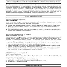 Outside Sales Resume Examples Best Outside Sales Representative Resume Example LiveCareer And 18