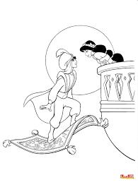 Colora I Simpatici Personaggi Del Cartone Aladin E Le Sue Avventure