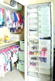 small nursery closet organization ideas baby add storage to a with an inexpensive shoe organizer