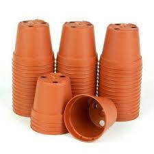 terra cotta plastic pots pack of 50