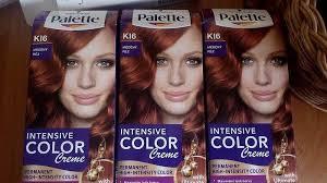 Zrzavá Barva Na Vlasy Palette Intensive Color Creme K16