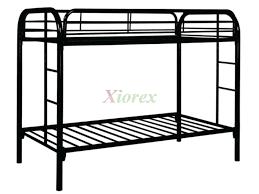 Black metal bunk bed Bunker Bed Xiorex Leo Twin Metal Bunk Beds Canada Xiorex