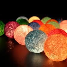ball fairy lights. cotton ball fairy lights