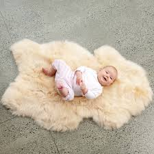 ecowool infant lambskin rug for floor decoration ideas