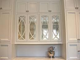 antiqued mirror kitchen cabinet accents