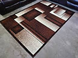 border tan brown rug 5x8 modern contemporary geometric area rugs free delivery