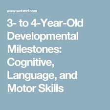 3 To 4 Year Old Developmental Milestones Cognitive