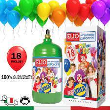 KREA BOMBOLA di Gas Elio per GONFIARE Palloncini con 18 Palloncini Lattice  Italiano Inclusi in Omaggio: Amazon.it: Casa e cucina