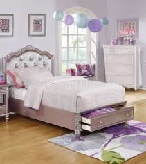 Lilac Bedroom 400891 Kids Bedroom 4pc Set In Metallic Lilac W Options