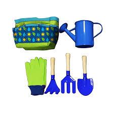 blue 6 piece kids garden set