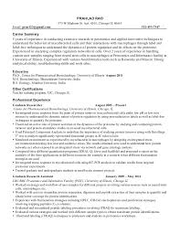 Sample Resume Science Re A Decent Resume If You Re Going Into Resume For Research  Research