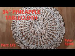 how to crochet 34 pineapple tablecloth pineapple doily part 1 3