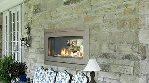 outdoor wall fireplace double sided gas indoor prodigious interiors mounted stone