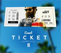event ticket template free 17 free ticket templates psd ai word free premium templates