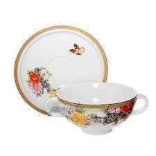 <b>Суповая чашка на блюдце</b> 0 л керамика декор серия Японский ...