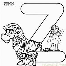Small Picture Abc Letter Z Zebra Sesame Street Prairie Coloring Pages 7 Com