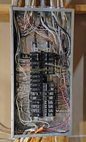 how to wire an electrical outlet under the kitchen sink wiring diagram Electric Breaker Panel Box Wiring cover removed from circuit breaker panel Wiring 30 Amp Breaker Box