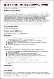teaching assistant resume sample special needs teaching assistant cv sample myperfectcv
