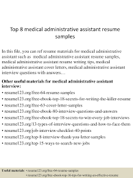 Medical Administrative Assistant Resume Sample Top100medicaladministrativeassistantresumesamples100conversiongate100thumbnail100jpgcb=11003002710007 37