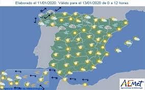 Bienvenido has creado tu cuenta en el tiempo. Aemet Pronostico Del Tiempo En Toda Espana Hoy 29 De Enero 2020