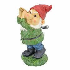 golf gnome garden statue decorative
