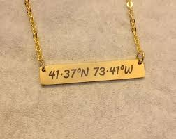 custom coordinates necklace coordinates necklace personalized coordinates necklace gps coordinates necklace coordinates jewelry personalized bar