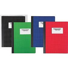 Pack Of 2 Staples Composition Notebook Graph Ruled Assorted Colors 9 3 4 X 7 1 2
