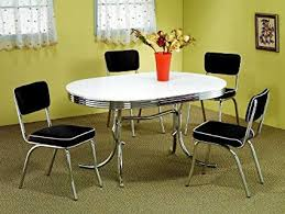 retro style furniture. 5pc Retro Style Chrome Plated Dining Table \u0026 4 Black Chairs Set Retro Style Furniture