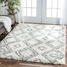 nuloom alexa my soft and plush moroccan trellis white grey easy shag rug 8 grey white rug l8