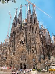 barcelona Gaud architecture inside the Sagrada Familia