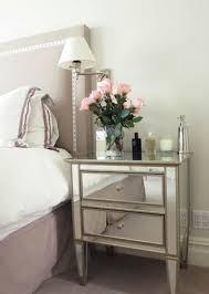 ideas mirrored furniture. bedroom nailhead trim headboard mirrored nightstand ideas furniture e