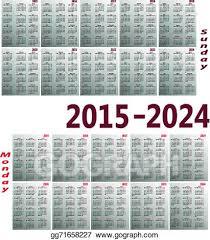 Simple 2015 Calendar Vector Art Calendar 2015 2024 Clipart Drawing Gg71658227 Gograph