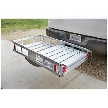 carrier ramp. folds down flat when not in use carrier ramp