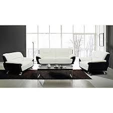 white modern couches. Alicia White/ Black 3-piece Modern Sofa Set | Overstock.com Shopping - White Couches S