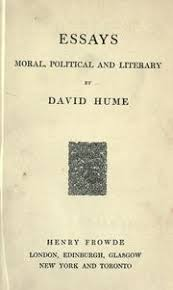 hume s political discourses hume david  essays moral political and literary