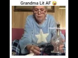 stoner smokes with grandma