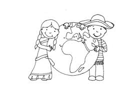 Our free coloring pages for adults and kids, range from star wars to mickey mouse. Children S Coloring Page Around The World By Out Of The Box Preschool
