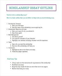 of essay outlines scholarship outline