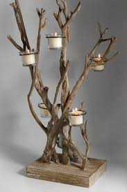 tea light tree  Tree Branch CraftsTree ...