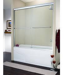 fleurco cordoba 2 panel sliding frameless bath tub door