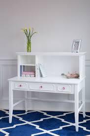 craft desk hutch white pink crystal s