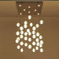 glass ball chandelier sphere full image for bubble crystal orion 16 light led rectangular floating
